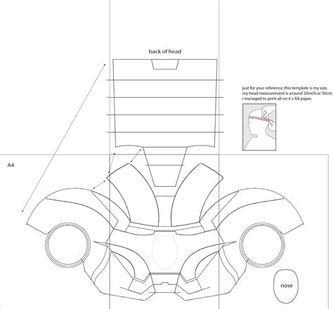 armor templates wars diy iron 4 costume helmet diy cardboard with template