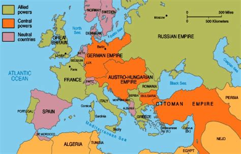 european map 1914 europe map 1914 wwi click image for larger picture