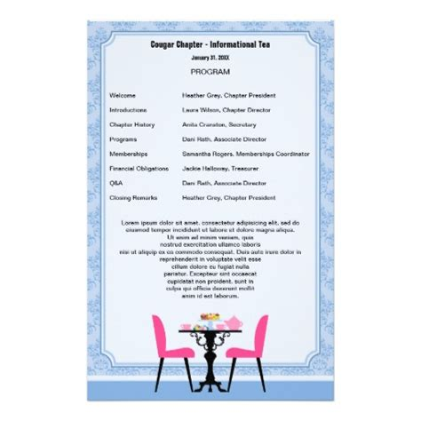 Birthday Program Outline by 13 Best Photos Of Printable Birthday Program Template Birthday Program Template