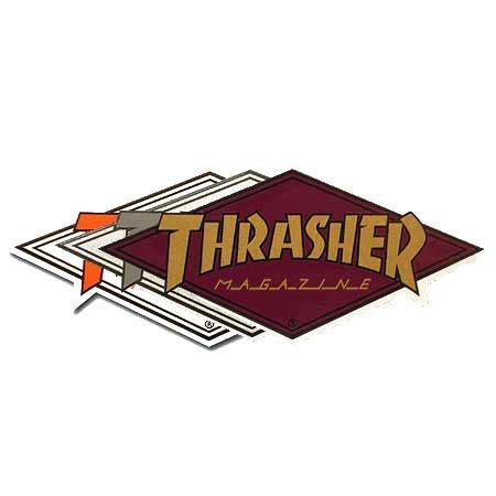 thrasher magazine diamond logo sticker in stock at spot