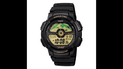 Casio Original Word Time rel 211 gio casio original japones standard world time map ae