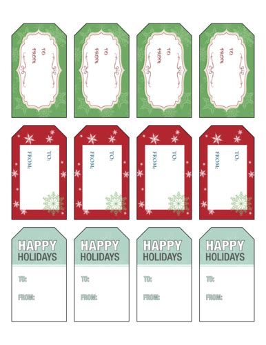 Gift Tag Label Template by Labels Label Templates