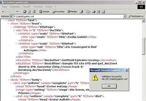 Word Vorlage Xml konvertierung eines word dokuments in xml tei