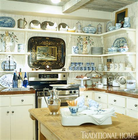 country kitchen blue hill hydrangea hill cottage country decorating
