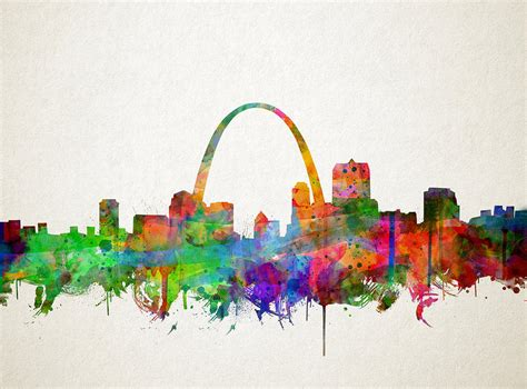 watercolor tattoo st louis st louis skyline watercolor 2 painting by bekim