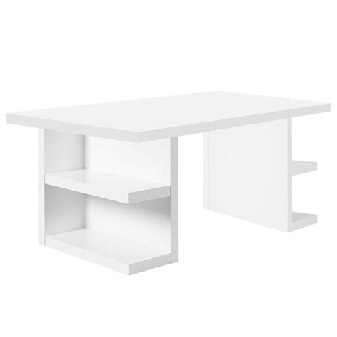 bureau rangements temahome bureau avec rangements quot multi quot 180cm blanc mat