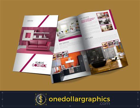 bi fold brochure template illustrator bi fold interior brochure design template