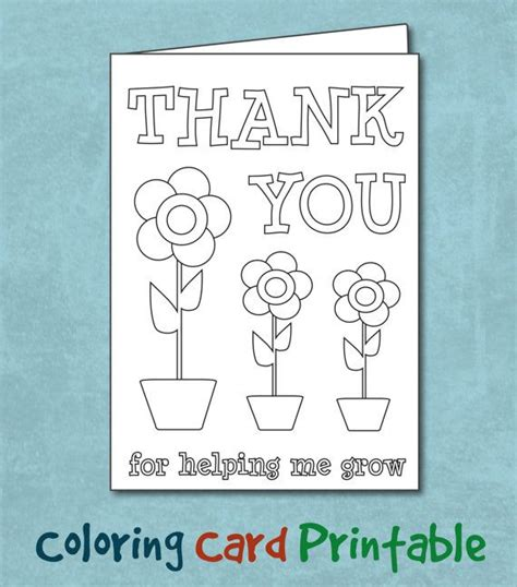 s day card preschool grows template coloring thank you card printable custom daycare