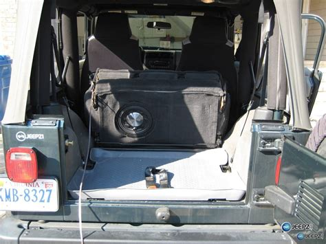 Subs For Jeep Wrangler Subwoofer Inside Of A Jeep Wrangler Rear Seat