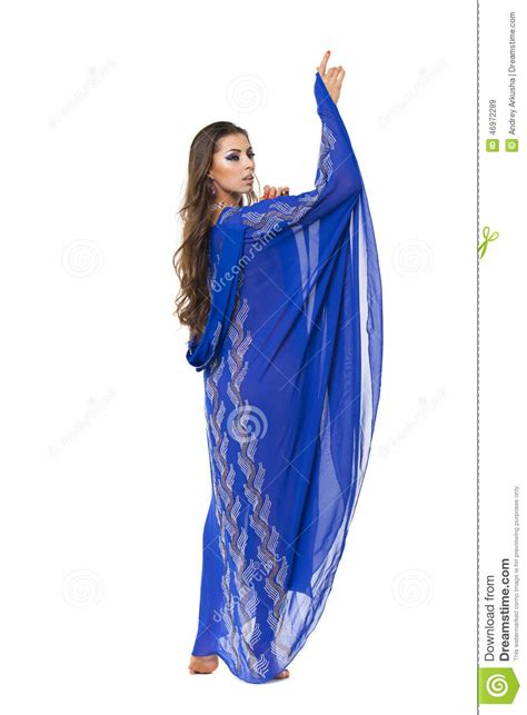 Tunic Arabic portrait of the in blue tunic arabic stock