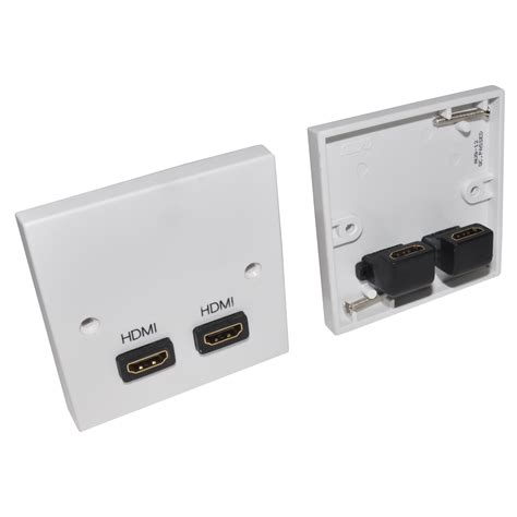 2 port hdmi v1 4 wallplate faceplate to