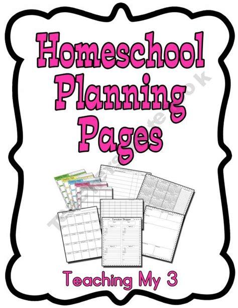 Homeschool Curriculum Unit Planner Homeschool Pinterest Homeschool Curriculum And Planners Homeschool Lesson Plan Template