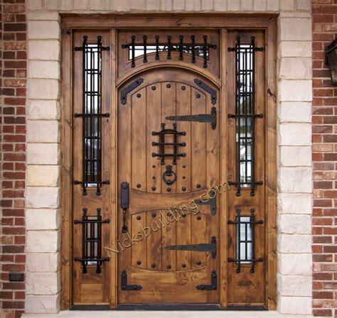 rustic doors exterior alder doors arch top door