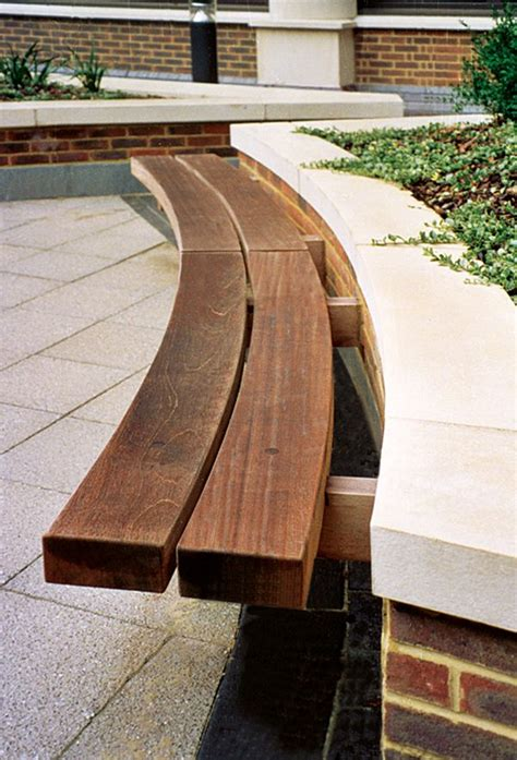 curved outdoor bench seating hardwood timber seat type 4 wall seat outdoor seating by