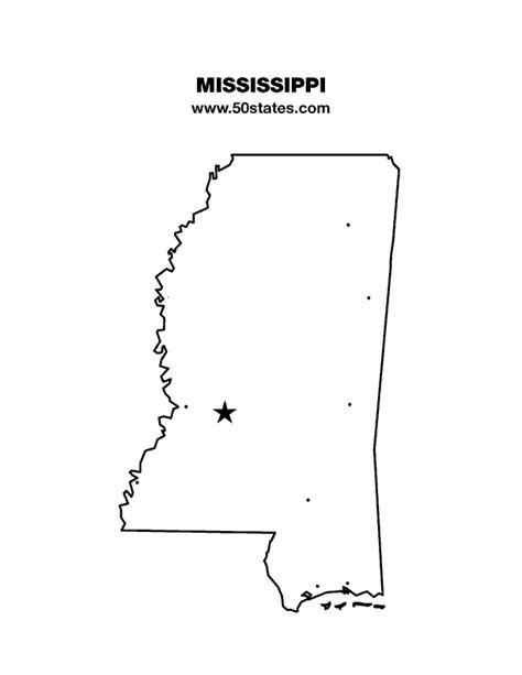 printable map mississippi mississippi map