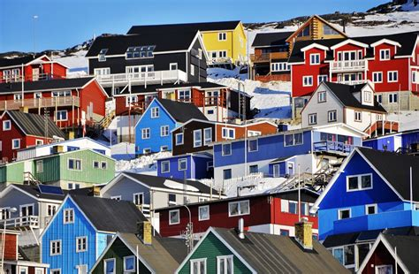 houses in greenland colored houses in qaqortoq greenland jigsaw puzzle in puzzle of the day puzzles on