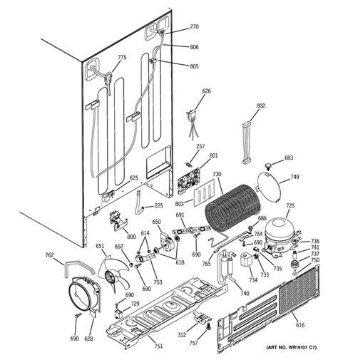 ge profile refrigerator diagram refrigerator parts ge whirlpool refrigerator parts diagram