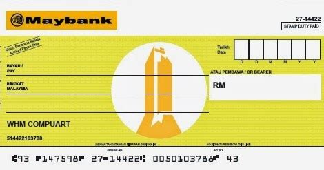 This Is Life Mock Up Cheque Maybank Mock Cheque Template