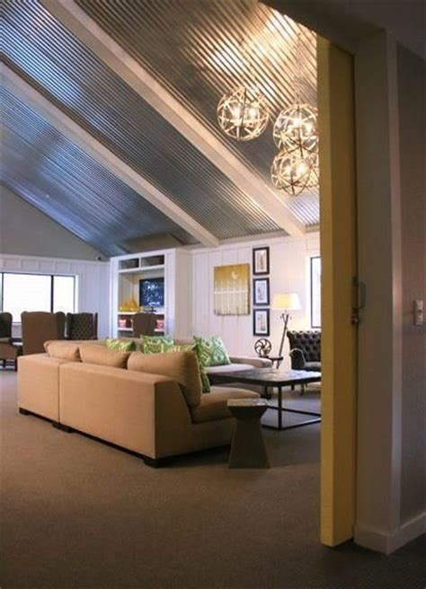 Corrugated Metal Ceiling Home Decorating Obsessed Corrugated Metal Ceilings