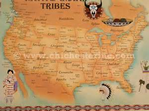 map of american tribes in america trading post postcards or tribe maps or