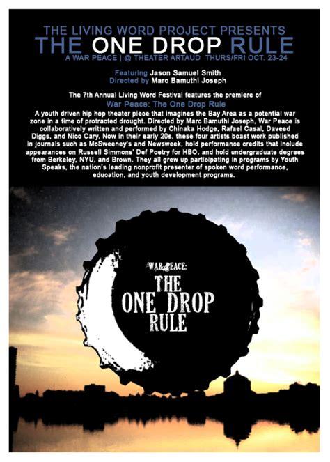 one rule one drop rule