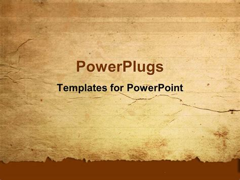 powerpoint template a representation of old paper with