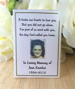 Wording For Funeral Program Memorial Gift Memorial Keepsake Memorial Favors Memorial