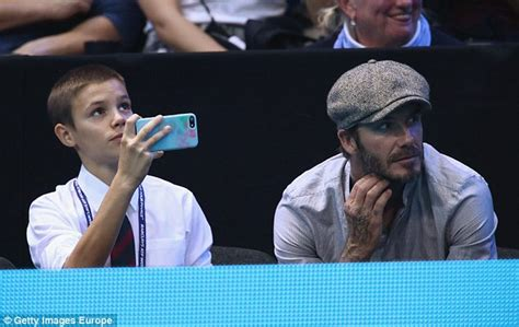 Beckham Snaps Up Seconds by David Beckham Catches Up With Milos Raonic As Tennis