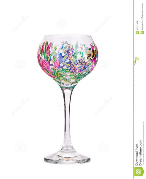 Handmade Wine Glass - handmade beautiful wine glass stock photo image 42922324
