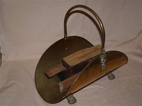 accessories brass firewood holder was sold for r190