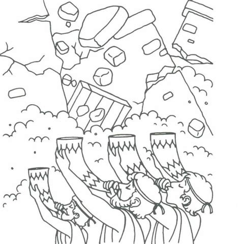 joshua and the walls of jericho coloring page az
