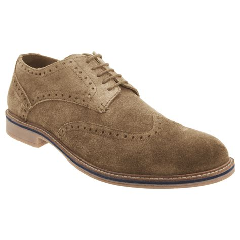 mens suede oxford shoes roamers mens real suede leather 5 eye lace up brogue