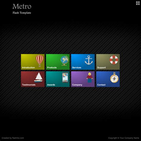 flash template 283 metro