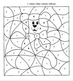 color numbers by numbers coloring pages