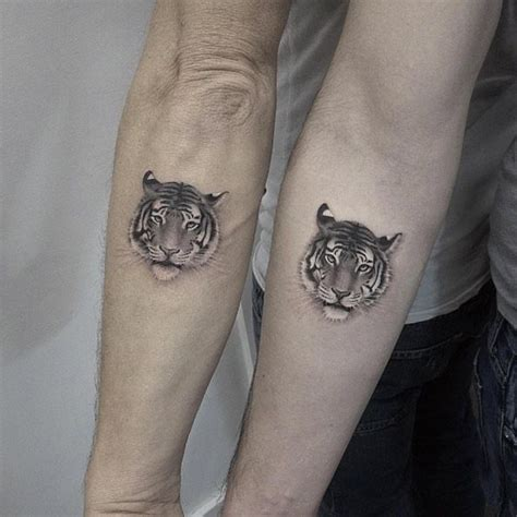 matching cat tattoos the 25 best tiger small ideas on