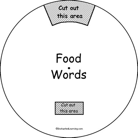 food word wheel printable worksheet enchantedlearning com
