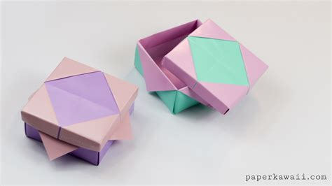 With Origami - origami masu box variation tutorial paper kawaii