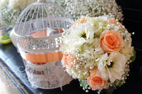 Fresh Bridal Flowers by Fresh Roses White Dahlia Hydrangea And Baby