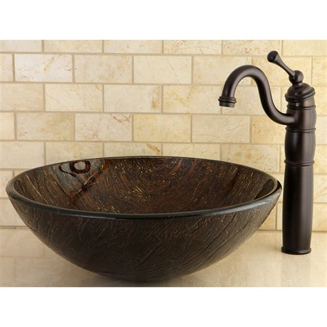 glass vessel bathroom sink bronze tempered glass vessel bathroom sink ebay