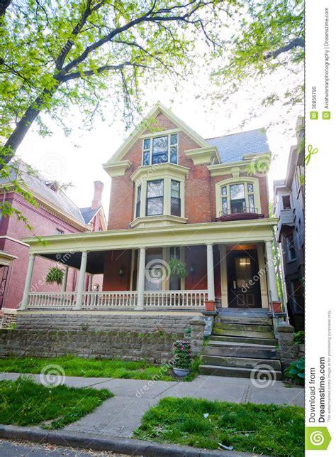 large brick style home stock photo image 30856790