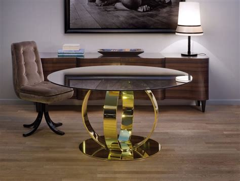 gold dining tables    luxury interiors
