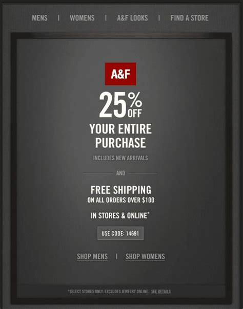 abercrombie fitch coupons 30 off w promo code for pinned june 27th 25 off at abercrombie fitch or