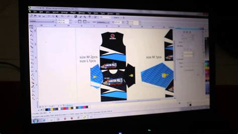 desain jersey sepeda cdr proses design jacket printing jersey printing kaos racing