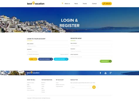 best vacation holiday web sketch template by page
