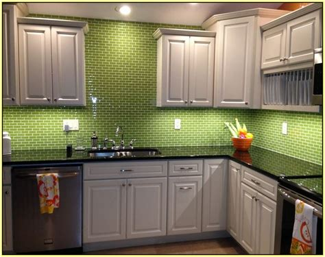 green glass tile kitchen backsplash home design ideas