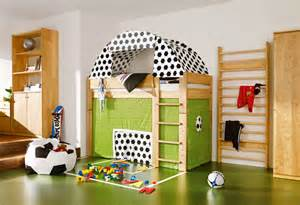 soccer themed bedroom soccer field cool kids room themed side view interior design ideas