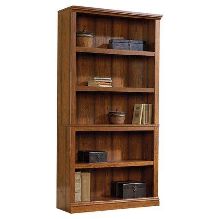 sauder select 5 shelf bookcase in washington cherry finish