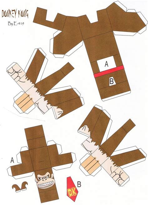 Kong Papercraft - 17 best images about kong printables on