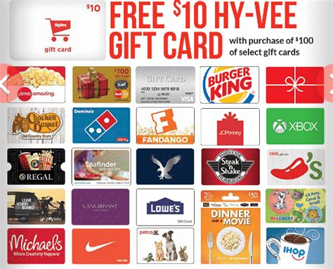 purchase printable gift cards hy vee get 10 gift card with 100 gift purchase doctor