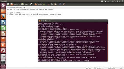 setup ubuntu svn server how to install apache2 subversion and websvn on ubuntu